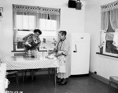 Unidentified Women in a Kitchen, Boissevain, MB