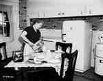 Unidentified Woman in Kitchen, Renfrew, ON