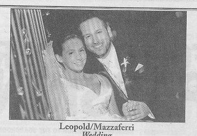 Wedding: Lizzie Leopold and Brian Mazzaferri