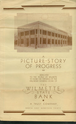 A Picture-Story of Progress: The Wilmette Bank