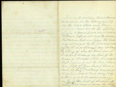 Statement written by Simon Doyle, Chicago, Illinois, to Alexander McDaniel, Wilmette, Illinois, on September 23, 1881.