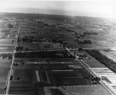 Aerial view of west Wilmette, 1926