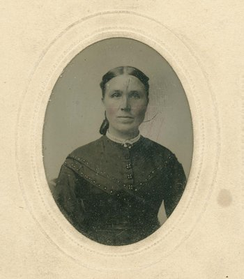 Portrait of unidentified woman, possibly Louisa Mitchell