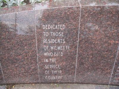 Wilmette Memorial Information
