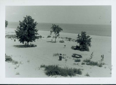 Wilmette beach in 1960