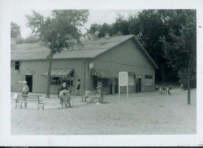 Beach house at Gillson Park, Wilmette, in 1960