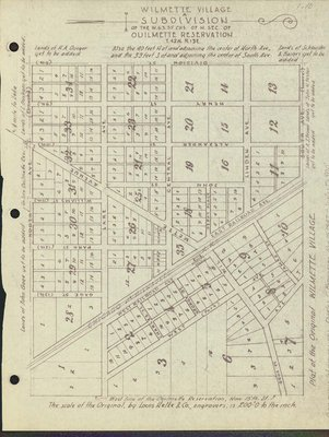 Plan of the original Wilmette village