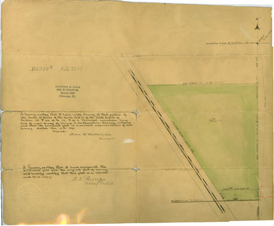 Survey of a subdivision made by John A. Westerfield, surveyor