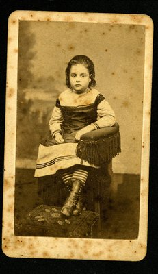 Portrait of Florence Mitchell as a child