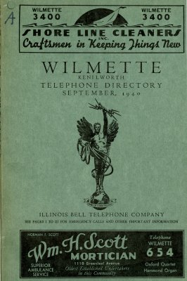 Wilmette and Kenilworth Telephone Directory, September 1940