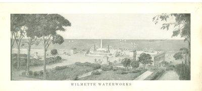 Artist's rendition of the Wilmette waterworks