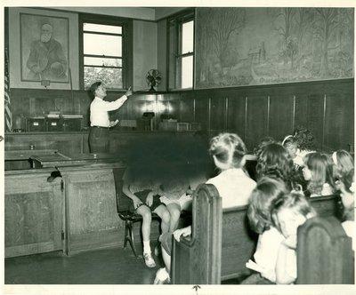 Interior of Wilmette Village Hall 1948