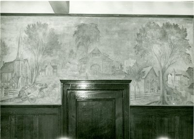 Mural in Wilmette Village Hall 1948