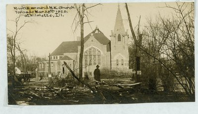 View of Wilmette after the Palm Sunday Tornado on March 28, 1920, No.21