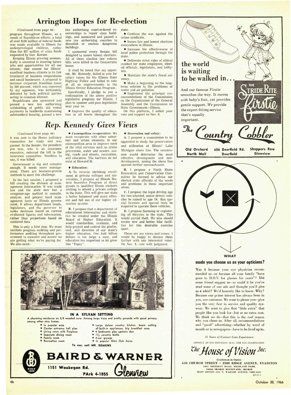 Wilmette Life (Wilmette, Illinois), 20 Oct 1966