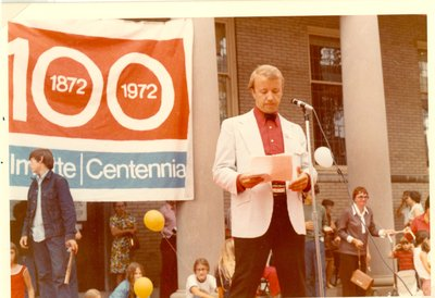 Fred Kolflat, member of the Wilmette Centennial Committee