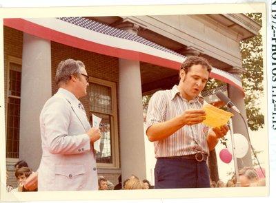 Mayor James A. Schweitert and Jerrold Rossenwasser