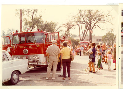 Firetruck and street scene