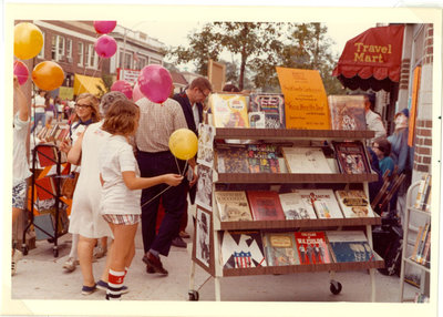 Book cart and sidewalk sale