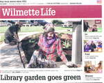 Library garden goes green