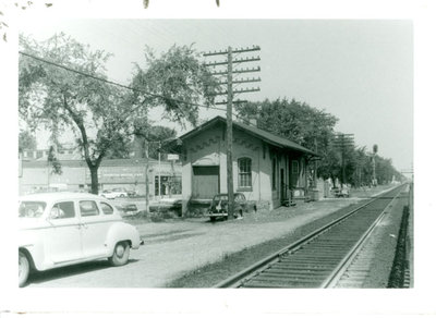Chicago & Northwestern railroad freight depot