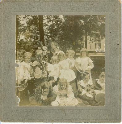 Young school children and a teacher
