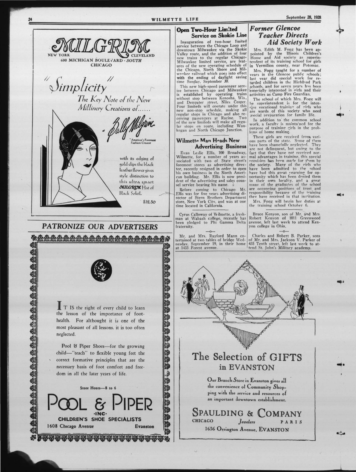 Wilmette Life (Wilmette, Illinois), 28 Sep 1928