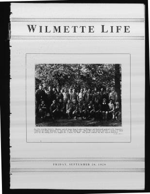 Wilmette Life (Wilmette, Illinois), 28 Sep 1928