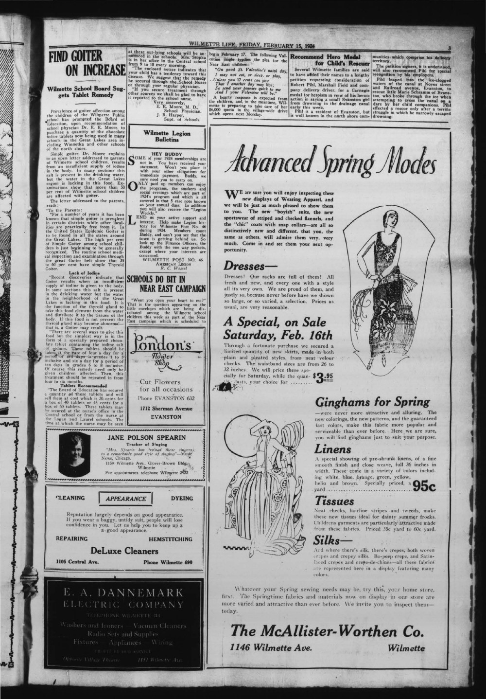 Wilmette Life (Wilmette, Illinois), 15 Feb 1924