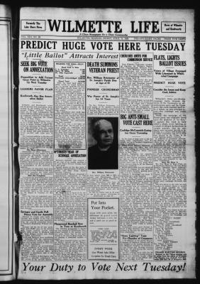 Wilmette Life (Wilmette, Illinois), 11 Apr 1924