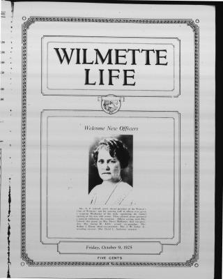 Wilmette Life (Wilmette, Illinois), 9 Oct 1925