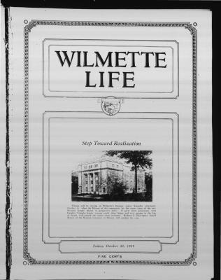 Wilmette Life (Wilmette, Illinois), 30 Oct 1925