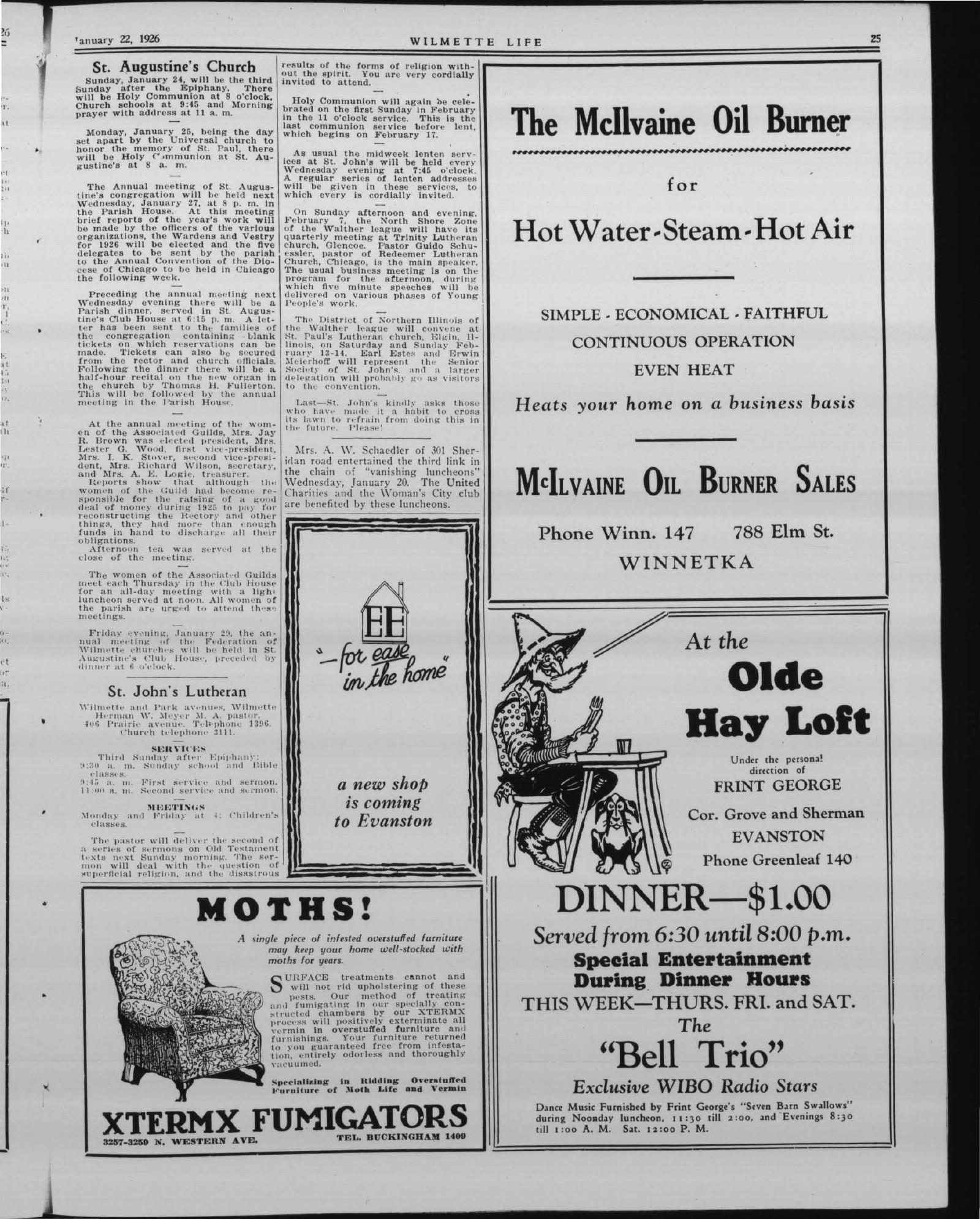 Wilmette Life (Wilmette, Illinois), 22 Jan 1926