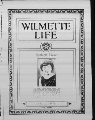 Wilmette Life (Wilmette, Illinois), 22 Jan 1926