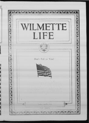 Wilmette Life (Wilmette, Illinois), 9 Apr 1926