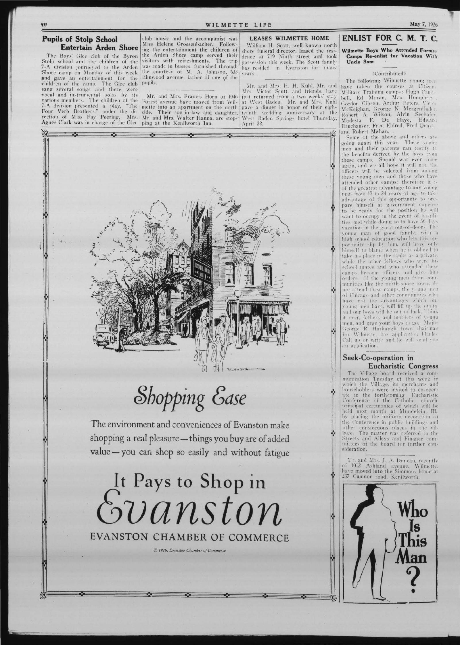 Wilmette Life (Wilmette, Illinois), 7 May 1926