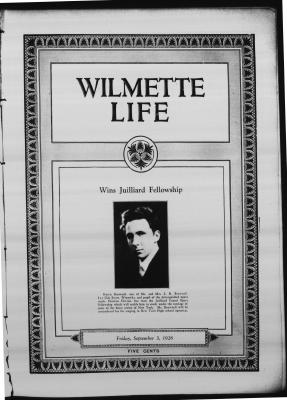 Wilmette Life (Wilmette, Illinois), 3 Sep 1926