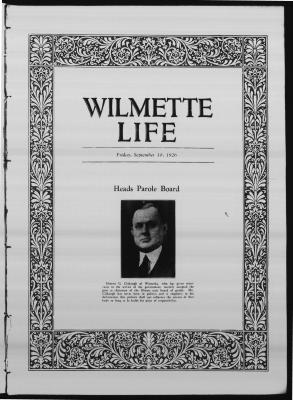 Wilmette Life (Wilmette, Illinois), 10 Sep 1926