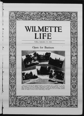 Wilmette Life (Wilmette, Illinois), 17 Sep 1926
