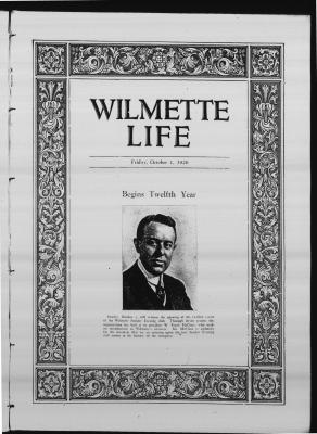 Wilmette Life (Wilmette, Illinois), 1 Oct 1926