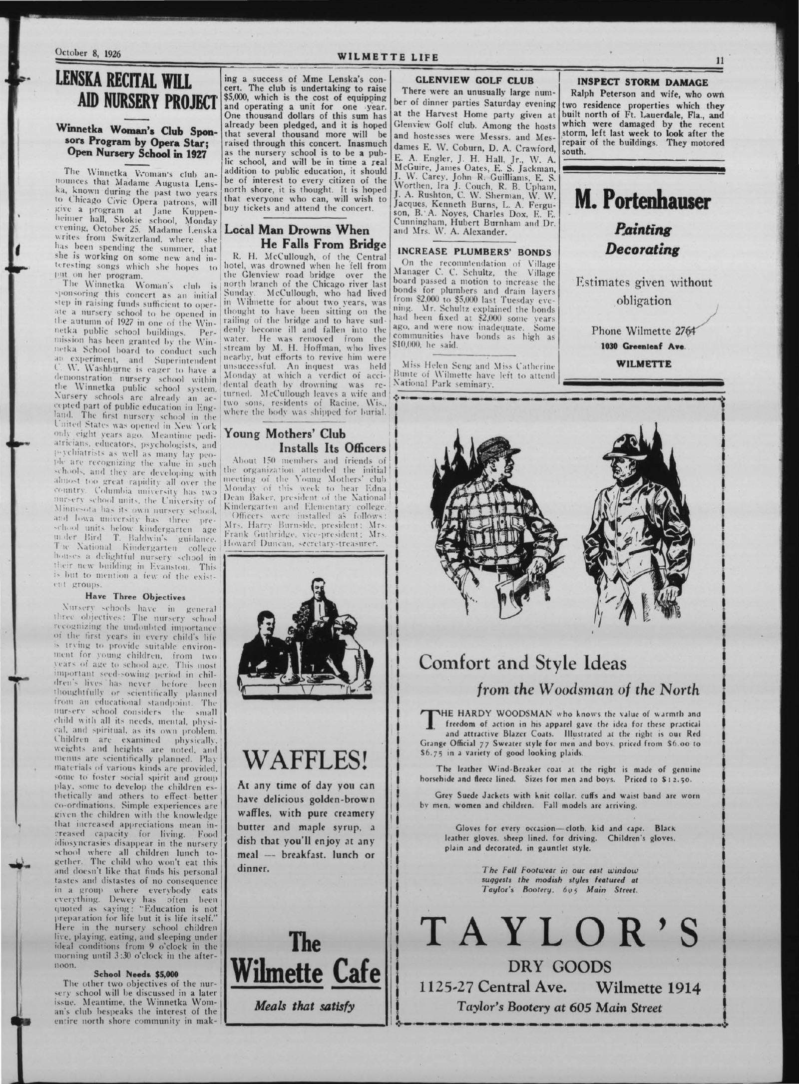 Wilmette Life (Wilmette, Illinois), 8 Oct 1926