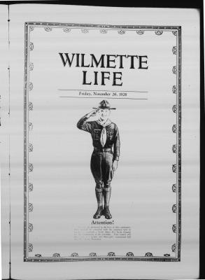 Wilmette Life (Wilmette, Illinois), 26 Nov 1926
