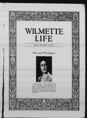 Wilmette Life (Wilmette, Illinois), 3 Dec 1926