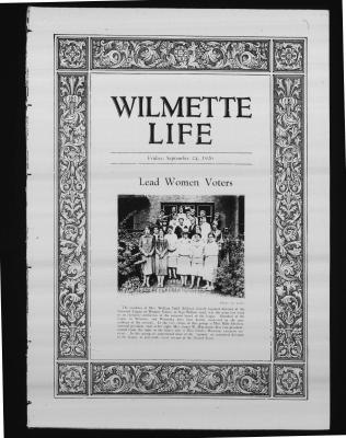 Wilmette Life (Wilmette, Illinois), 24 Sep 1926
