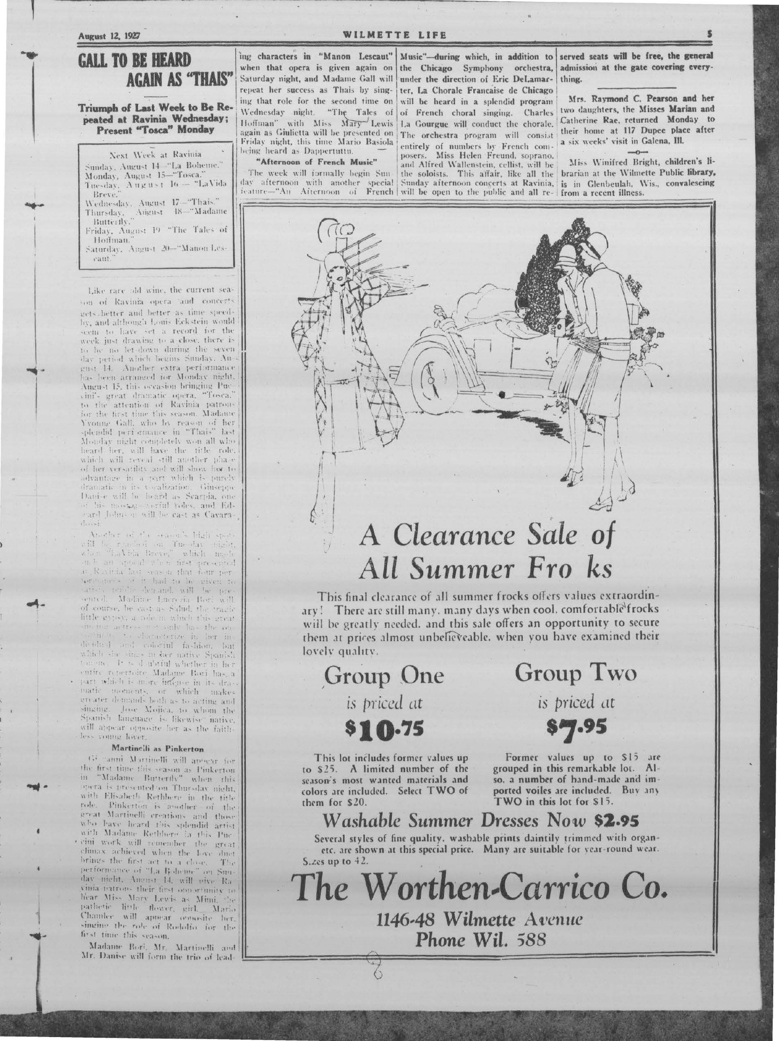 Wilmette Life (Wilmette, Illinois), 12 Aug 1927