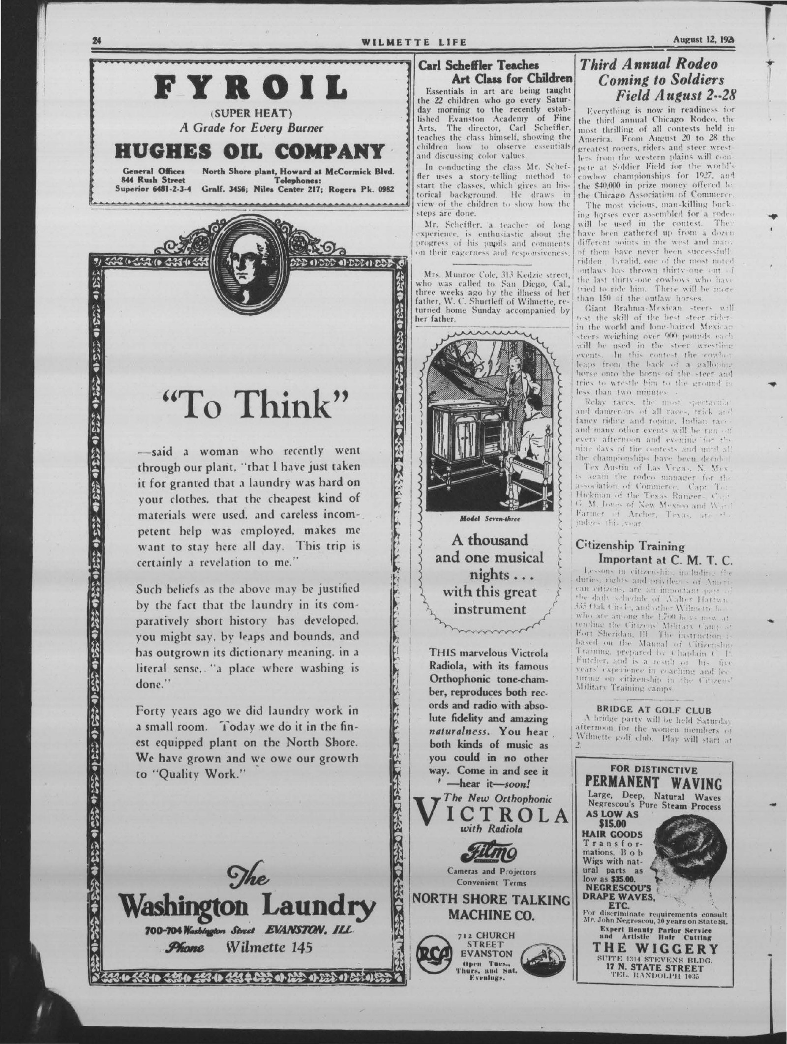 Wilmette Life (Wilmette, Illinois), 12 Aug 1927