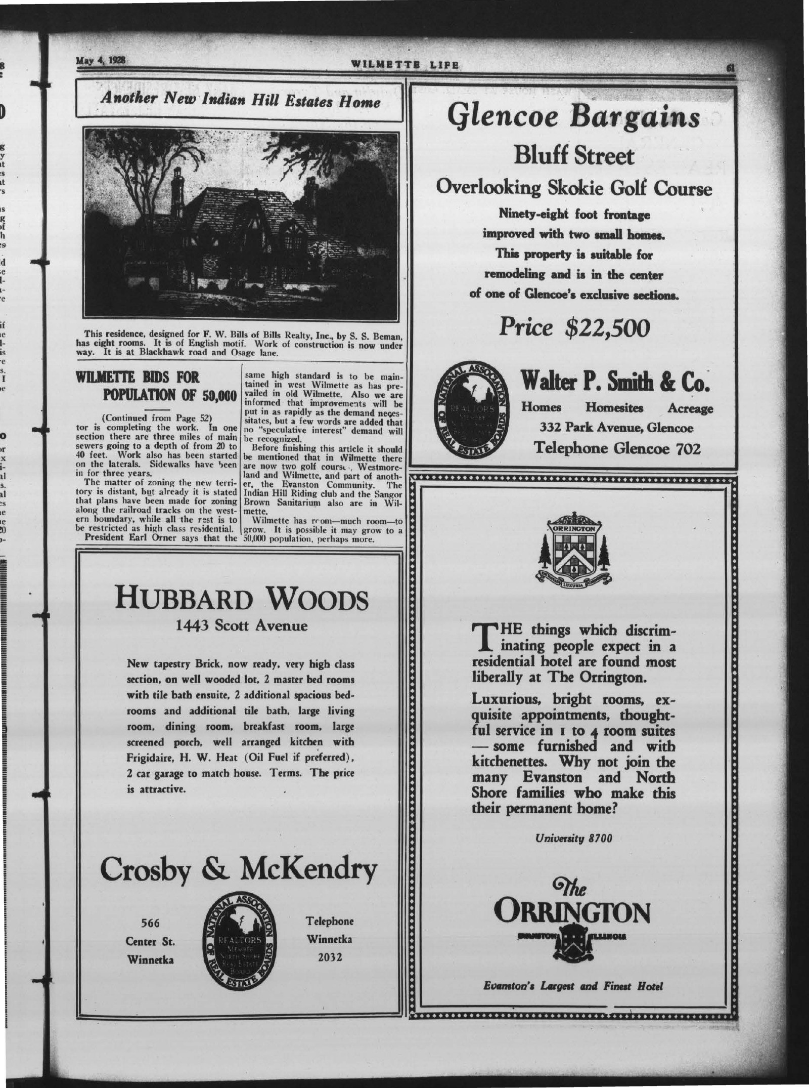 Wilmette Life (Wilmette, Illinois), 4 May 1928