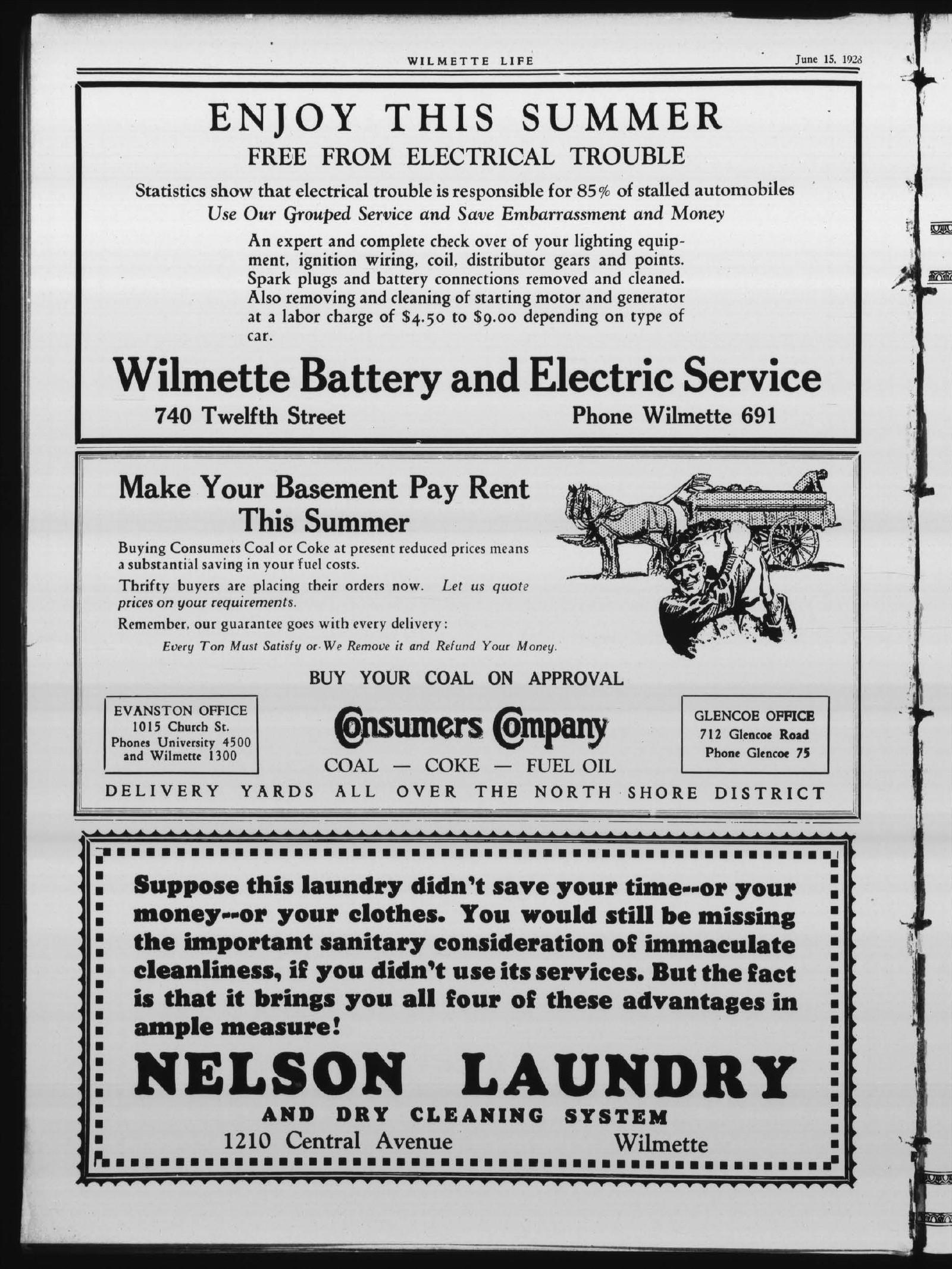 Wilmette Life (Wilmette, Illinois), 15 Jun 1928