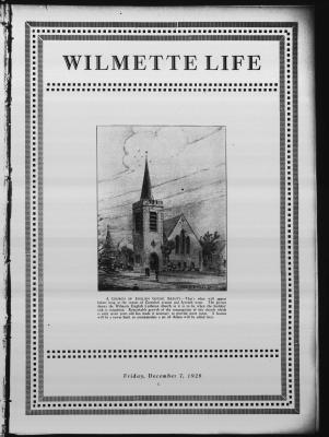 Wilmette Life (Wilmette, Illinois), 7 Dec 1928