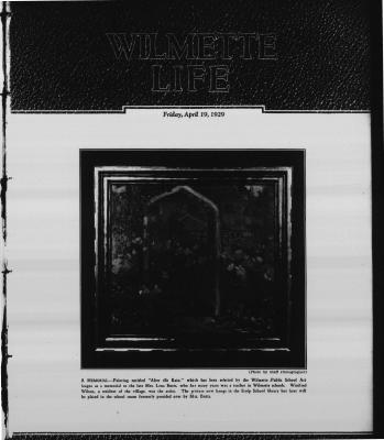 Wilmette Life (Wilmette, Illinois), 19 Apr 1929